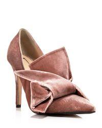 N°21 - Pink Pumps - Scrunch Velvet - Lyst