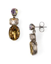 Sorrelli - Multicolor Tri-stone Post Earrings - Lyst