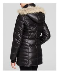Marc New York - Black Paris Fur Trim Puffer Coat - Lyst