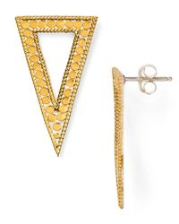 Anna Beck | Metallic Triangle Drop Earrings | Lyst