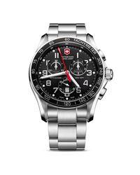 Victorinox | Black Chronograph Classic Xls Watch, 45mm for Men | Lyst