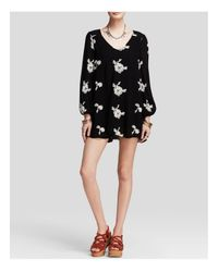 Free People - Black Emma's Embroidered Dress - Lyst