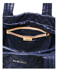 MZ Wallace - Black Oxford Metro Medium Color Block Tote - Lyst