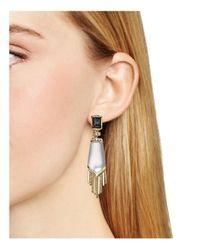 Alexis Bittar - Metallic Elements Dangling Fringe Cabochon Clip-on Earrings - Lyst