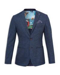 Ted Baker Blue Port Buggy Lined Regular Fit Sport Coat for men