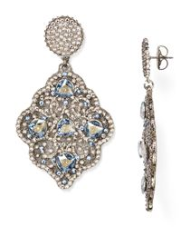 Roni Blanshay | Metallic Swarovski Crystal Drop Earrings | Lyst