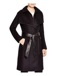 Mackage - Black Nori Asymmetric Belted Coat - Lyst