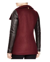 Mackage - Purple Odilia Leather Sleeve Coat - Lyst