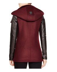 Mackage - Purple Odilia Leather Sleeve Coat - Lyst