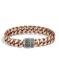 John Hardy | Metallic Men's Classic Chain Gourmette Bronze & Sterling Silver Large Link Bracelet | Lyst