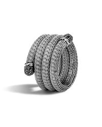 John Hardy | Metallic Classic Chain Sterling Silver Lava Multi Row Coil Ring With Black Sapphire | Lyst