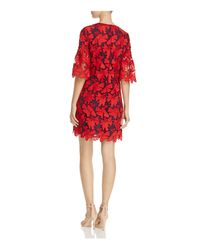 Tory Burch - Red Nicola Floral Lace Dress - Lyst