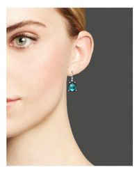 Ippolita - Green Rock Candy Sterling Silver Wonderland Pear Drop Earrings In Kelly Doublet - Lyst