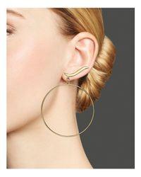 Lana Jewelry - Metallic 14k Yellow Gold Wavelength Bangle & Stud Duo Earrings - Lyst