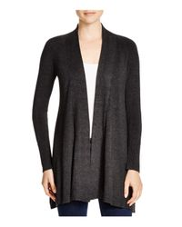 Eileen Fisher - Gray Heathered Knit Cardigan - Lyst