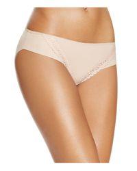 Tc Fine Intimates | Natural Lace Trim Gripper Bikini #a4-072 | Lyst