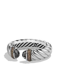 David Yurman - Metallic Waverly Bracelet With Hematine & Gray Diamonds - Lyst