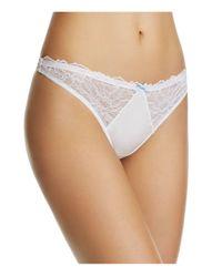 B.tempt'd | White B.gorgeous Thong #976236 | Lyst