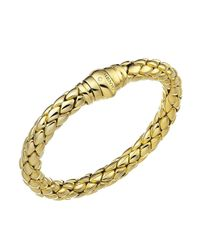 Chimento - Metallic 18k Yellow Gold Stretch Classic Collection Pyramid Link Bracelet With Diamonds - Lyst