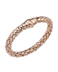 Chimento | Metallic 18k Rose Gold Stretch Classic Collection Pyramid Link Bracelet With Diamonds | Lyst