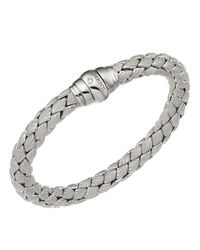 Chimento | Metallic 18k White Gold Stretch Classic Collection Pyramid Shell Bracelet With Diamonds | Lyst