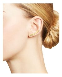Zoe Chicco - Metallic 14k Gold Bezel Set Opal Ear Climber - Lyst