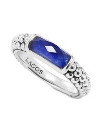 Lagos | Multicolor Sterling Silver Maya Lapis Stack Ring | Lyst