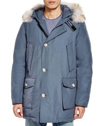 Woolrich - Blue Arctic Down Parka for Men - Lyst