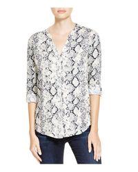 Soft Joie | White Dane Snakeskin Print Shirt | Lyst