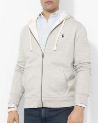 Polo Ralph Lauren | Gray Classic Full-zip Fleece Hoodie for Men | Lyst