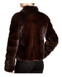 Maximilian | Brown Maximilian Stand Collar Mink Coat | Lyst