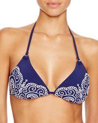 Nanette Lepore - Blue Henna Vixen Triangle Bikini Top - Lyst
