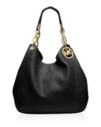 MICHAEL Michael Kors | Black Large Fulton Shoulder Bag | Lyst
