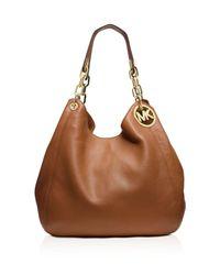 MICHAEL Michael Kors | Brown Large Fulton Shoulder Bag | Lyst