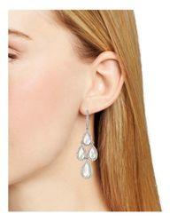 Nadri - White Sterling Mother-of-pearl Kite Drop Earrings - Lyst