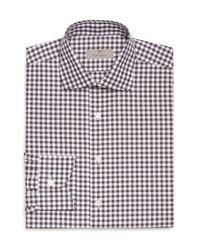 Canali White Bold Gingham Regular Fit Dress Shirt for men