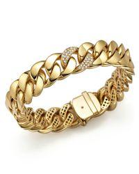 Roberto Coin | Metallic 18k Yellow Gold Link Bracelet With Diamonds | Lyst