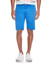 Robert Graham - Blue Journeyman Bermuda Shorts for Men - Lyst