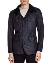 Barbour | Black Sapper Tailored Waxed Cotton Jacket for Men | Lyst
