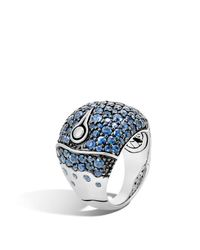 John Hardy | Bamboo Sterling Silver Lava Dome Ring With Blue Sapphire | Lyst