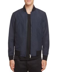 Theory | Blue Brant Burrow Bomber Jacket - 100% Exclusive for Men | Lyst
