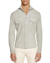 Eidos - Green Garment Dyed And Washed Western Slim Fit Button-down Shirt - 100% Exclusive for Men - Lyst
