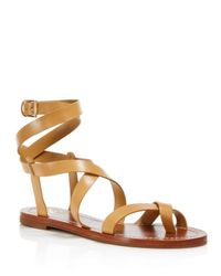 c79a95391057 Lyst - Tory Burch Patos Strappy Sandals in Natural