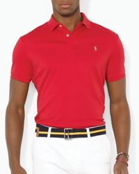 Polo Ralph Lauren   Red Pima Soft Touch Regular Fit Polo for Men   Lyst