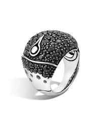 John Hardy | Metallic Bamboo Silver Lava Dome Ring With Black Sapphire - 100% Exclusive | Lyst