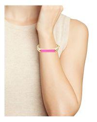 Kate Spade - Pink Hinge Bangle Bracelet - Lyst