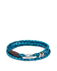 Paul Smith | Metallic Leather Wrap Bracelet | Lyst