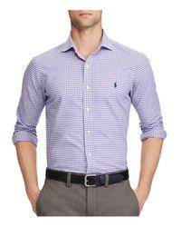 Polo Ralph Lauren - Purple Standard Fit Gingham Oxford Button-down Shirt for Men - Lyst