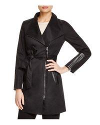 Mackage   Black Estela Leather Trimmed Trench Coat   Lyst
