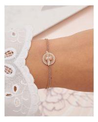 Olivia Burton - Metallic 3d Bee Coin Bracelet - Lyst